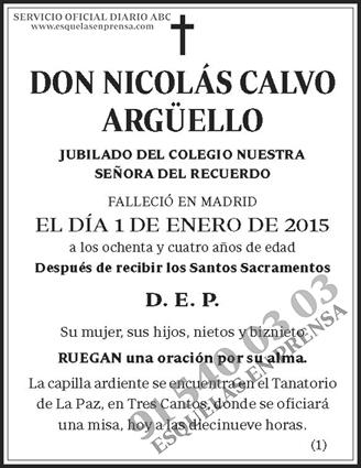 Nicolás Calvo Argüello